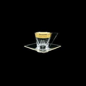 Fusion ES FNGC Cup Espresso 76ml 1pc in Romance Golden Classic Decor (33-335)