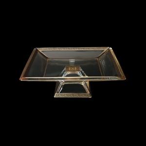 Ducale MOD DMGB Large Bowl w/F 35x35cm 1pc in Lilit Golden Black Decor (31-681)