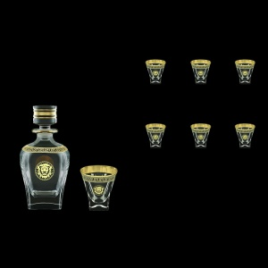 Fusion Set WD+B3 FLGB Whisky Set 800ml+6x200ml in Antique&Leo Gol. Black D. (42-435/437)