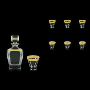 Fusion Set WD+B3 FNGC Whisky Set 800ml+6x200ml 1+6pcs in Romance Gold. Cl. D. (33-435/437)