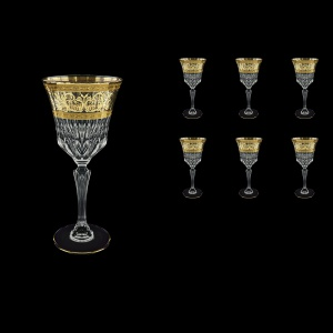 Adagio C2 AALK Wine Glasses 280ml 6pcs in Allegro Golden Light Decor (65-644/L)