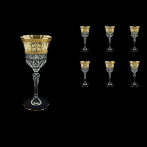 Adagio C3 AALK Wine Glasses 220ml 6pcs in Allegro Golden Light Decor (65-643/L)