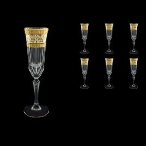 Adagio CFL AALK Champagne Flutes 180ml 6pcs in Allegro Golden Light Decor (65-645/L)