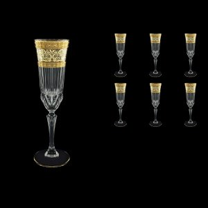 Adagio CFL AALK Champagne Flutes 180ml 6pcs in Allegro Golden Light Decor (65-645/L)