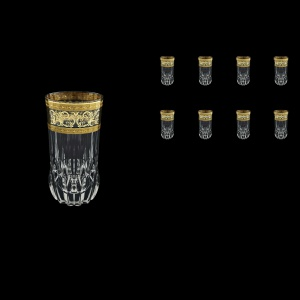 Adagio B0 AALK Water Glasses 400ml 8pcs in Allegro Golden Light Decor (65-647/8/L)