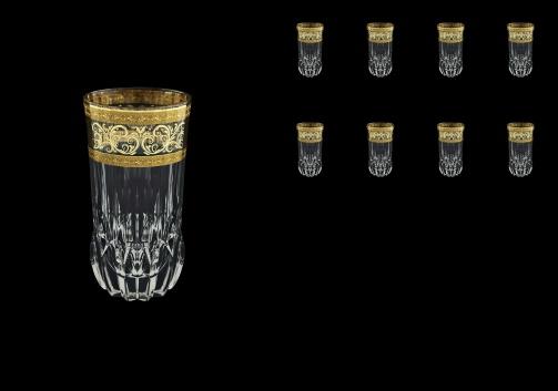 Adagio B0 AALK Water Glasses 400ml 8pcs in Allegro Golden Light Decor (65-647/8/L)