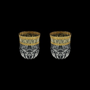 Adagio B2 AALK Whisky Glasses 350ml 2pcs in Allegro Golden Light Decor (65-646/2/L)