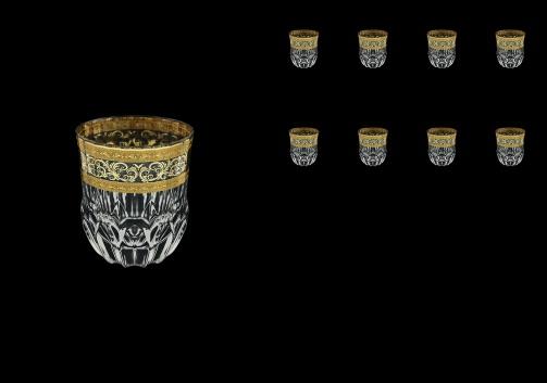 Adagio B2 AALK Whisky Glasses 350ml 8pcs in Allegro Golden Light Decor (65-646/8/L)