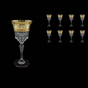 Adagio C2 AALK Wine Glasses 280ml 8pcs in Allegro Golden Light Decor (65-644/8/L)