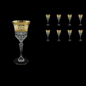 Adagio C3 AALK Wine Glasses 220ml 8pcs in Allegro Golden Light Decor (65-643/8/L)