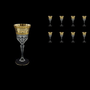 Adagio C4 AALK Wine Glasses 150ml 8pcs in Allegro Golden Light Decor (65-642/8/L)