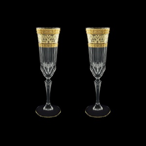 Adagio CFL AALK Champagne Flutes 180ml 2pcs in Allegro Golden Light Decor (65-645/2/L)