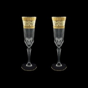 Adagio CFL AALK Champagne Flutes 180ml 2pcs in Allegro Golden Light Decor (65-645/2/L)
