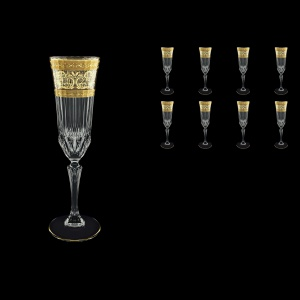 Adagio CFL AALK Champagne Flutes 180ml 8pcs in Allegro Golden Light Decor (65-645/8/L)