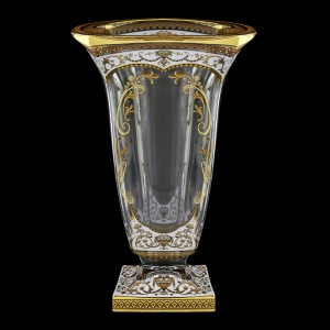 Bohemia Magma VV MEGW H Vase 33cm 1pc in Flora´s Empire Golden White Decor+H (21-343/H)
