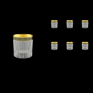 Timeless B3 TMGB SKCR Whisky Glasses 313ml 6pcs in Lilit Gold. Black D.+SKCR (31-110/bKCR)