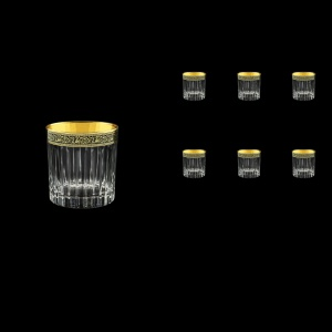 Timeless B3 TMGB Whisky Glasses 313ml 6pcs in Lilit Golden Black Decor (31-279)