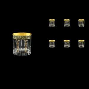 Timeless B3 TMGB H Whisky Glasses 313ml 6pcs in Lilit Golden Black Decor+H (31-279/H)