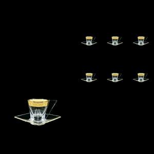 Fusion ES FNGC Cup Espresso 76ml 6pcs in Romance Golden Classic Decor (33-335/6)