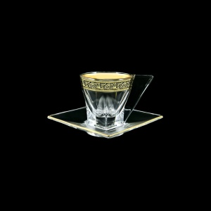 Fusion CA FMGB Cup Cappuccino 190ml 1pc in Lilit Golden Black Decor (31-334)