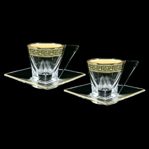 Fusion CA FMGB Cup Cappuccino 190ml 2pcs in Lilit Golden Black Decor (31-334/2)