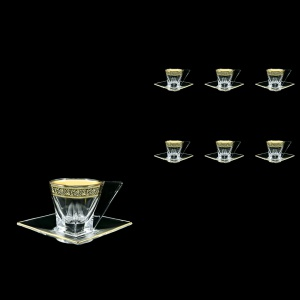 Fusion CA FMGB Cup Cappuccino 190ml 6pcs in Lilit Golden Black Decor (31-334/6)