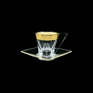 Fusion CA FNGC Cup Cappuccino 190ml 1pc in Romance Golden Classic Decor (33-334)