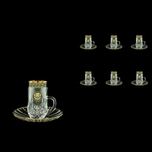 Opera ES OLGB  Espresso 50ml 6pcs in Antique&Leo Golden Black Decor (42-502/6)