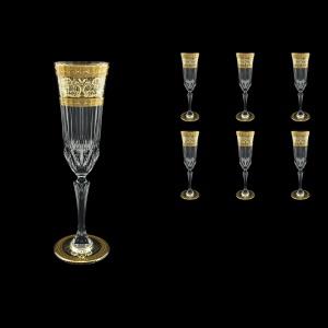 Adagio CFL AALK D Champagne Flutes 180ml 6pcs in Allegro Golden Light Decor+D (66-645/L)