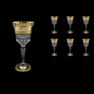 Adagio C2 AALK D Wine Glasses 280ml 6pcs in Allegro Golden Light Decor+D (66-644/L)