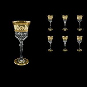 Adagio C3 AALK D Wine Glasses 220ml 6pcs in Allegro Golden Light Decor+D (66-643/L)