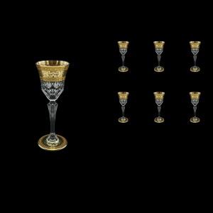 Adagio C5 AALK D Liqueur Glasses 80ml 6pcs in Allegro Golden Light Decor+D (66-641/L)