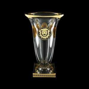 Bohemia Magma VV MLGB CH Vase 33cm 1pc in Antique&Leo Golden Black Decor (42-206)