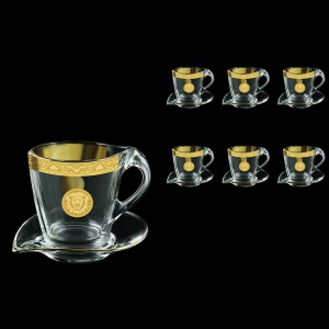 Mamanonmama CA MOGC Cappuccino 260ml 6pcs in Romance&Leo Golden Classic Decor (43-333/6)