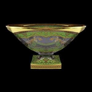 Bohemia Magma MV MEGG H Bowl d34cm 1pc in Flora´s Empire Golden Green Decor+H (24-344/H)