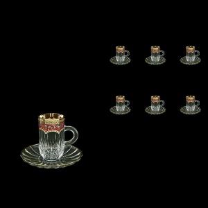 Opera ES OEGR Espresso 50ml 6pcs in Flora´s Empire Golden Red Decor (22-503/6)
