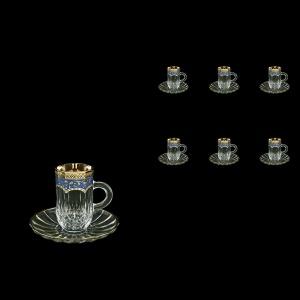 Opera ES OEGC Espresso 50ml 6pcs in Flora´s Empire Golden Blue Decor (23-503/6)