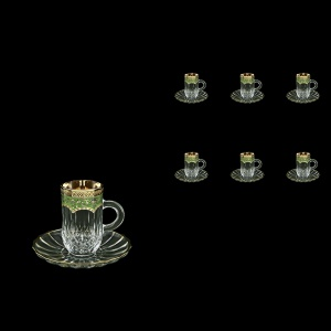 Opera ES OEGG Espresso 50ml 6pcs in Flora´s Empire Golden Green Decor (24-503/6)