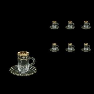 Opera ES OEGB Espresso 50ml 6pcs in Flora´s Empire Golden Black Decor (26-503/6)