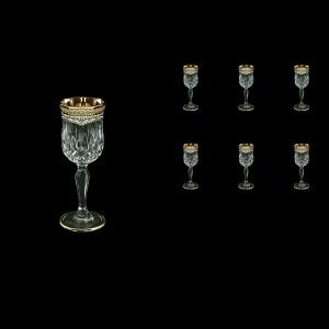 Opera C5 OEGW Liqueur Glasses 60ml 6pcs in Flora´s Empire Golden White Decor (21-651)