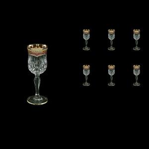 Opera C5 OEGR Liqueur Glasses 60ml 6pcs in Flora´s Empire Golden Red Decor (22-651)