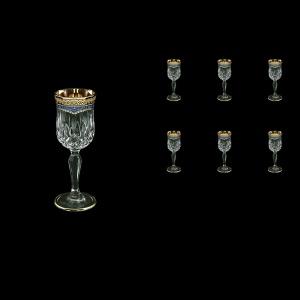 Opera C5 OEGC Liqueur Glasses 60ml 6pcs in Flora´s Empire Golden Blue Decor (23-651)