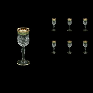 Opera C5 OEGG Liqueur Glasses 60ml 6pcs in Flora´s Empire Golden Green Decor (24-651)