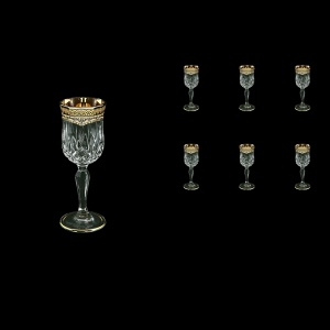 Opera C5 OEGI Liqueur Glasses 60ml 6pcs in Flora´s Empire Golden Ivory Decor (25-651)