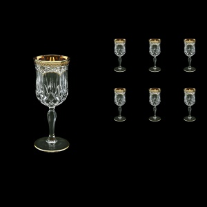 Opera C4 OEGW Wine Glasses 120ml 6pcs in Flora´s Empire Golden White Decor (21-652)