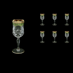 Opera C4 OEGG Wine Glasses 120ml 6pcs in Flora´s Empire Golden Green Decor (24-652)