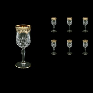 Opera C4 OEGI Wine Glasses 120ml 6pcs in Flora´s Empire Golden Ivory Decor (25-652)