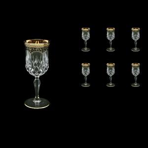 Opera C4 OEGB Wine Glasses 120ml 6pcs in Flora´s Empire Golden Black Decor (26-652)
