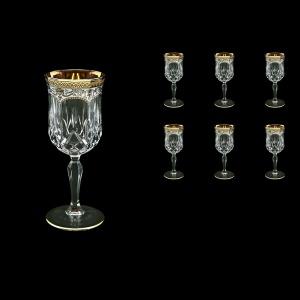 Opera C3 OEGW Wine Glasses 160ml 6pcs in Flora´s Empire Golden White Decor (21-653)