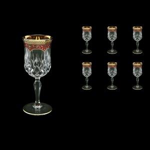 Opera C3 OEGR Wine Glasses 160ml 6pcs in Flora´s Empire Golden Red Decor (22-653)